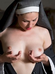 Stunning18 — Judith Able in Playful Nun