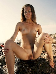EroticBeauty — Masha L in Rocking On Rocks